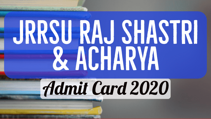JRRSU Admit Card