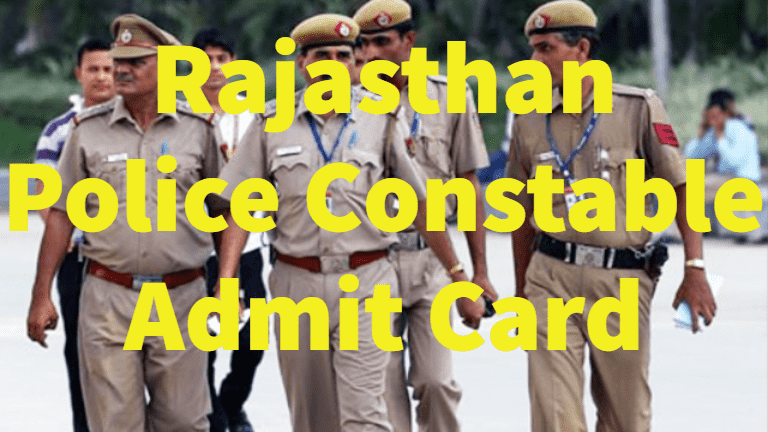 Rajasthan Police Call letter