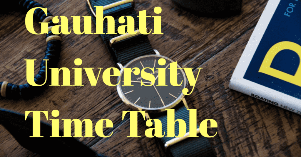 Gauhati-university-time-table