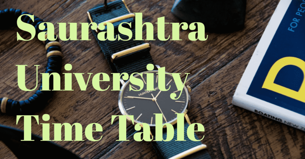 Saurashtra-University-Time-Table