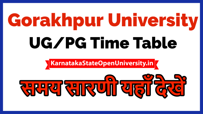 Gorakhpur University Time Table