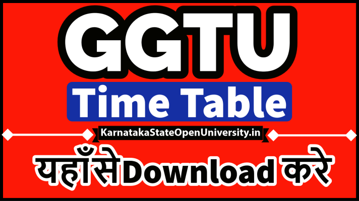 GGTU Time Table